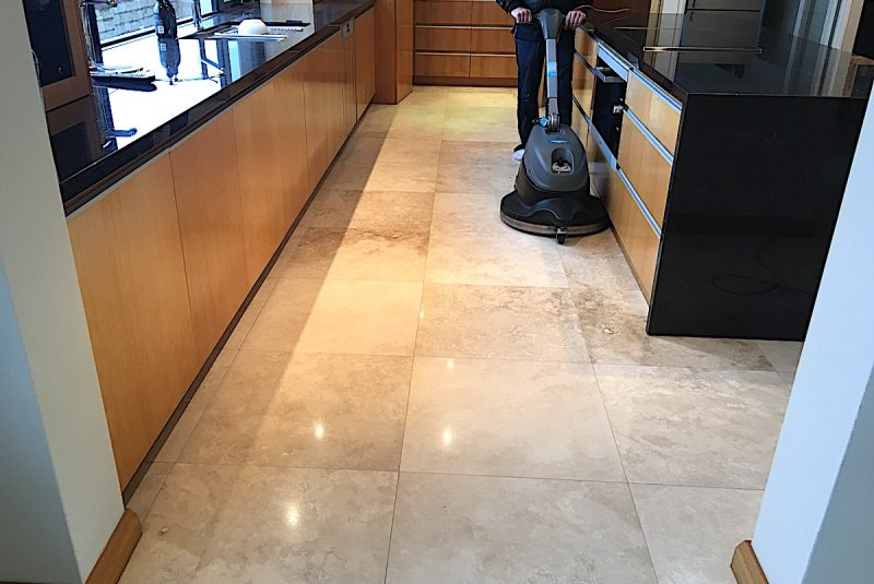 Travertine Floor Hone Strip Polish Clean - Infinity Floor Restoration Services Perth