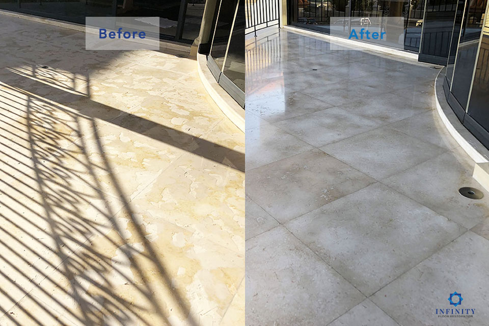 marble-filling-grinding-polishing-after-before-infinity-Floor-Restoration-April-2019