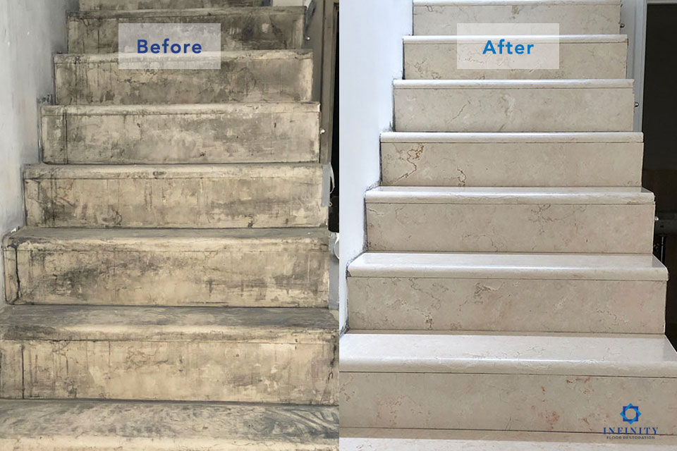 marble-fire-damage-1-after-before-Infinity-Floor-Restoration-April-2019