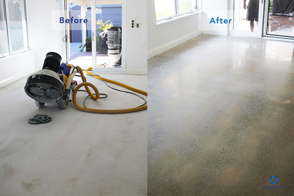 polished-concrete-1-before-after-Infinity-Floor-Restoration-April-2019