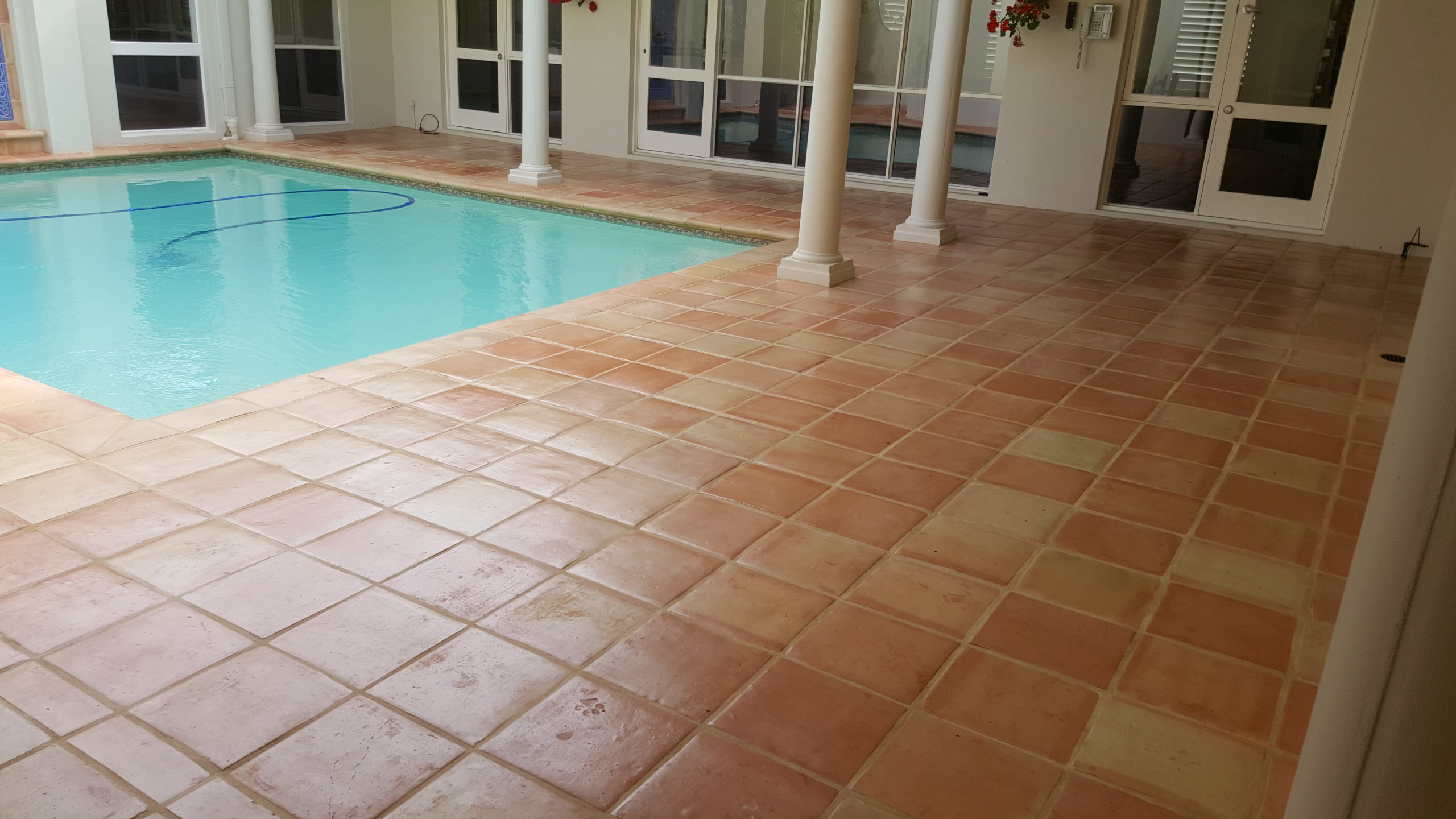 Terracotta Tile Grout Clean Seal Infinity Flooring 20161024 150514 Scaled